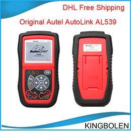 Wholesale Original Autel AutoLink AL539 OBDII Electrical Test Tool Auto Link al with excellent quality DHL