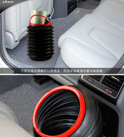 trash can - High Quality PC Flexible Mini Car supplies Trash can L Folding Storage Bucket Barrel Car Trash Container Garbage Bin