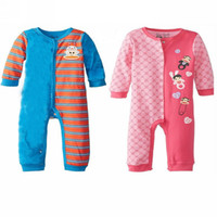 Wholesale Baby Romper Baby spring autumn long rompers cotton long sleeve cartoon animal design cute clothes yrs BTJ L0080