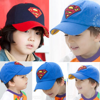 baby baseball caps - Fashion and superman baby hat summer hat boy hat baseball het peaked cap