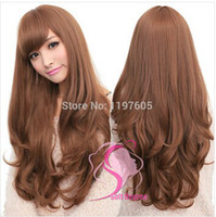 Wholesale Soft Degree Hair sexy fashion colors Long wave lady s synthetic hair lace free gift hairnet for