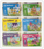 Wholesale 3D Dollhouses D PUZZLE Paper assembling toys Building Blocks Children s educational toys styles