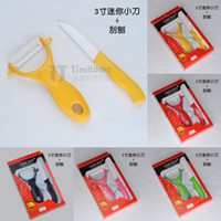 Wholesale Ultra Sharp Chef Kitchen Cutlery Knife quot inch Multicolor Blade Peeler Ceramic Knife