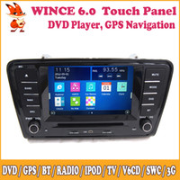 Wholesale Wince Car DVD GPS Navigation TV Bluetooth Steering Wheel Control In Dash Din Multimedia Touch Screen For VOLKSWAGEN Skoda Octavia A7