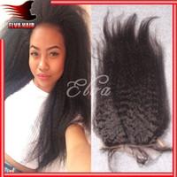 Cheap Brazilian Hair silk base closure Best Natural Color Curly kinky straight closure