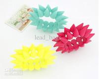 jelly bracelets - Jelly Bracelets Candy Color Punk Double Layer Rivets colors PC D9