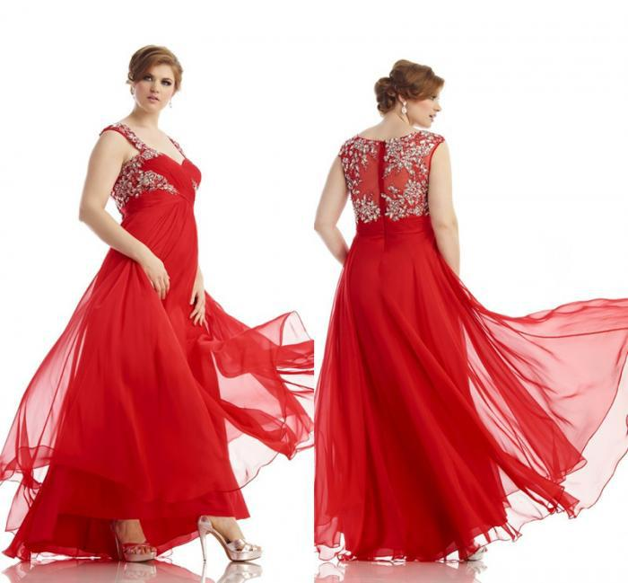Red Plus Size Prom Dresses 2014