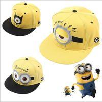 Unisex minion hat - Despicable Me Hat Minion Plush Hats Jorge Dave Stewart Cosplay Cap Despicable Plush Hat snapback hats Fashion Street Headwear JL