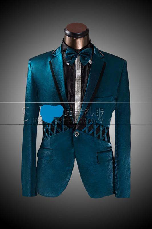 2014 Latest Suit Design Custom Made Malachite Green Performance ...
