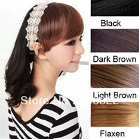 Wholesale Five colorsNew Sweet Lady Girls Oblique Bangs Fringe Wigs headwear Headband Hair DecorationLX0052 Drop shipping