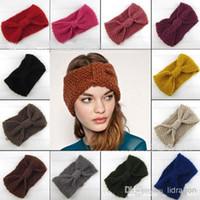 Wholesale Women s Fashion Wool Crochet Headband Knit Hair band Flower Winter Ear Warmer