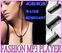 Wholesale NEWEST NECKLACE MUSIC MP3 PLAYER CONVINIENT sport LIGHT SMALLest MINI FASHION MULTICOLOR GB GB