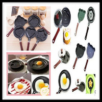 Wholesale Love Fried Eggs Pans Omelette Pans Stainless Steel Pans Fashion Kitchen Cookware Style Mini Cartoon Frying Pan Children s Gifts