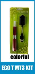 Ego T Battery MT3 Vaporizer Blister Kit 650mah 900mah 1100mah Ego T Battery MT3 Vaporizer pen Blister Kits Starter Kit E Cigarette KZ003