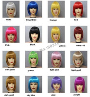 Cheap halloween wig Cheap wigs bright colored blue red blonde wig wigs professional Role-playing cosplay Party Masquerade Mask Hair weave