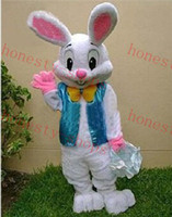 Wholesale Brand New Halloween EASTER BUNNY MASCOT COSTUME Bugs Rabbit Hare Adult
