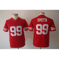 Cheap Top Quality #99 Aldon Smith Red American Football Jerseys Youth Limited Football Jerseys Brand Cheap Football Kits Mix Order All Teams