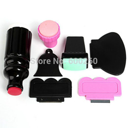 Wholesale Large Small XL Double Ended Stamper Scraper Nail Art Stamping Plate Image Tool New