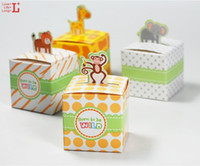 Cheap Lovely animal design candy box for baby shower newborn children birthday party,cute gift chocolate bag,50PCS lot,free shipping