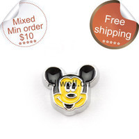 Wholesale floating charms for glass lockets Mickey Mouse charms