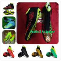 Wholesale New Arrivals Magista Soccer Shoes Men ACC Ankle Net Boots Brand Fashion Football Cleats TPU FG Flyknit Man Sport Shoe Cheap Colors Top