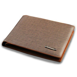 Exports Fashion New mens design leather wallet business casual striped quality wallets for men free shipping