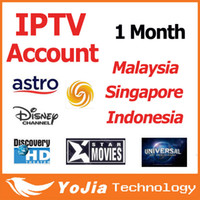 Wholesale 1 month Malaysia IPTV APK Account work in Android TV Box support Astro full channels in Malaysia Indonesia Singapore
