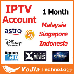 Wholesale 1 month MYIPTV Malaysia IPTV APK Account work in Android TV Box support Astro full channels in Malaysia Indonesia Singapore