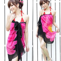 Wholesale 10pcs Sexy Wrap Summer Chiffon Swimwear Bikini Cover Up Sarong Beach Dress Pareo nx120