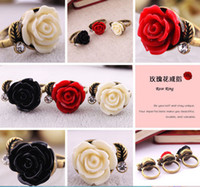 Wholesale Min order is mix order fashion Vintage metal Punk personality flower rings women OD092