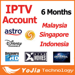Wholesale 6 months Good Quanlity Malaysia IPTV Account for Android TV Box with Astro full channels in Malaysia Indonesia Singapore