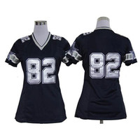 Cheap New Cowboys Female Football Jerseys #82 Jason Witten Black Game American Football Jerseys Mix Order Name Number Stiched Teams Football Kits