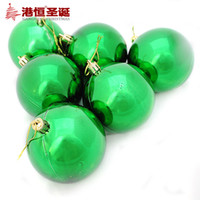 Wholesale Christmas Decoration Supplies ceiling hanging ball cm light green Christmas ball plated multi standard optional