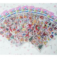 Wholesale Christmas Santa Claus Stickers Decorative Stickers Kids PVC Sticker toys stickers Children gift toys