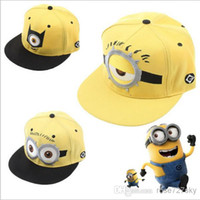 Wholesale Despicable Me Hat Minion Plush Hats Jorge Dave Stewart Cosplay Cap Despicable Plush Hat snapback hats Fashion Street Headwear JL