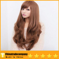 Wholesale Wigs Wig Hair Big Fluffy Fashion Temperament Inclined Bang Curly Hair