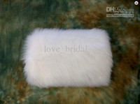 cotton gloves white - Hot Sale White Ivory Winter Bridal Faux Fur Muffs Warmer Wedding Dress Accessories Cheap In Stock