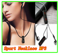 Wholesale Green red black blue The smallest MP3 heat sensitive lipstick necklace sport MP3 player waterproof MP3 player4GB GB