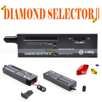 Wholesale New Portable Jewelry Diamond SelectorII Detector Diamond Gemstone Tester LED Pen Measure Tool