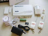 Wholesale Wireless GSM Home Security SIM Card Alarm kit System Auto Dialing Dialer piece only Lencent