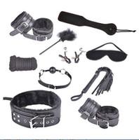 Casual Dresses bondage kit - 10 pc Black Furry Role Play Bondage Kit Restraint Fetish Beginner Set Sub SM