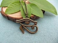 egyptian jewelry - christmas gift Hot sell vintage bronze Egyptian Necklace Eye of Horus Egyptian Jewelry Hieroglyph Charm