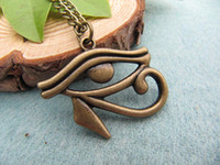 Wholesale vintage bronze Egyptian Necklace Eye of Horus Egyptian Jewelry Hieroglyph Charm best gift for friend