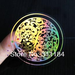 Des étiquettes en feuille imprimées en Ligne-Personnalisé transparente arc-en-aluminium d'or impression autocollant adhésif pour étiquette logo