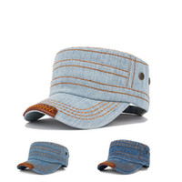 Wholesale 2014 fashion adult unisex solid jean style casual street hats caps visor AH061R