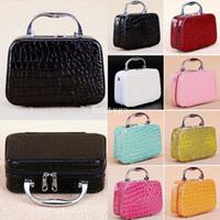 Wholesale PU Leather Vanity Make Up Cosmetic Makeup Beauty Nail Storage Jewelry Box Case bx89