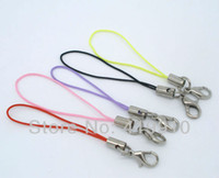 Cheap Wholesale-Free shipping-100 PCs Mixed Nylon Zinc Metal Alloy Cell Phone Lanyard 0.7mm Cords W Lobster Clasp M00778