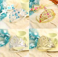 hair wigs wholesale - 2014 New Arrival Frozen Anna Elsa Princess Tiara Crown Magic Wand Wig Hair Set DH04