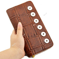 Wholesale F00147 fashion lady new concept women s fashion noosa chunk buttton snap DIY wallet fit mm button