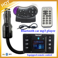 Cheap The Newest 1.5 inch Hands Free Call Bluetooth Car Kit FM Transmitter Car MP3 for Car Steering Wheel remote control,FreeShipping